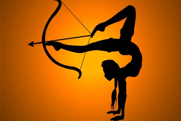 Busur-panah-kaki-dekorasi-rumah-olahraga-gadis-shadow-fleksibilitas-Kain-Sutra-Poster-Cetak-YR294.jpg
